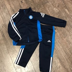 Adidas Jumpsuit 2T Navy and Blue
